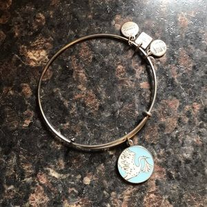 Alex & Ani Bangle - Blue Stork